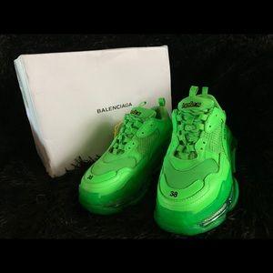 Balenciaga neon green sneakers